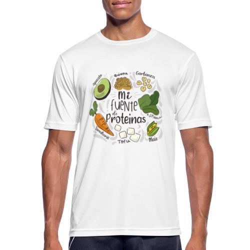 Mi fuente de proteinas - Camiseta hombre transpirable