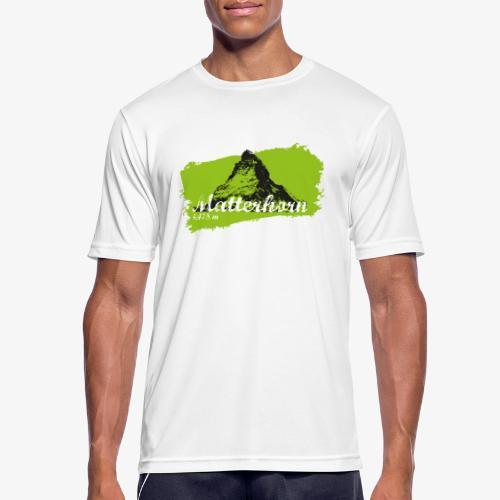 Matterhorn - Cervino en verde - Men's Breathable T-Shirt