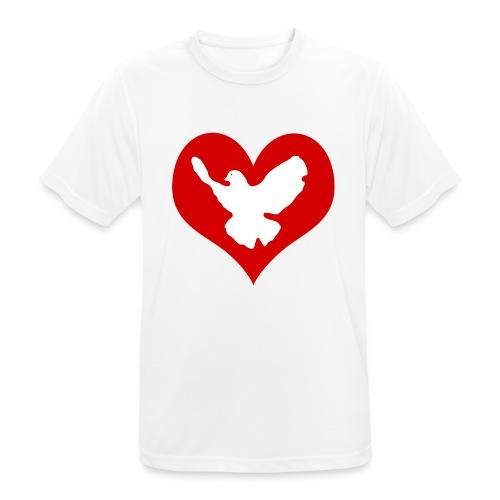 Peace & Love - Männer T-Shirt atmungsaktiv