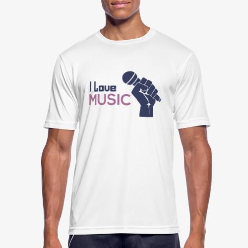 Amo la música - Camiseta hombre transpirable