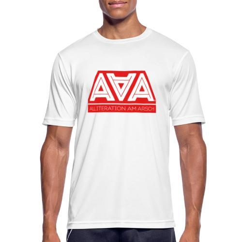Alliteration Am Arsch - Männer T-Shirt atmungsaktiv