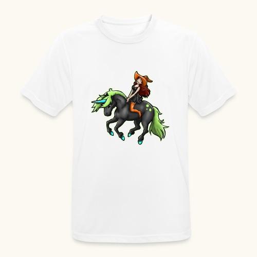 Monter une sorcière sexy sur une licorne. - T-shirt respirant Homme