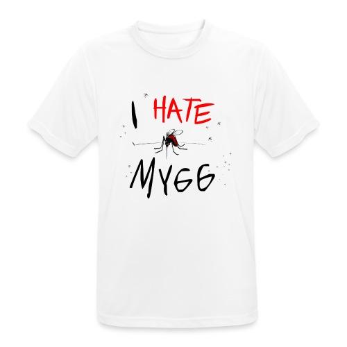 I hate mygg - Andningsaktiv T-shirt herr