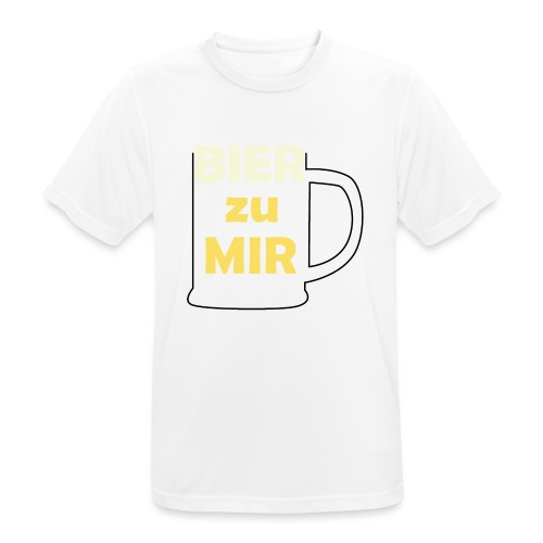Bier zu mir - Männer T-Shirt atmungsaktiv