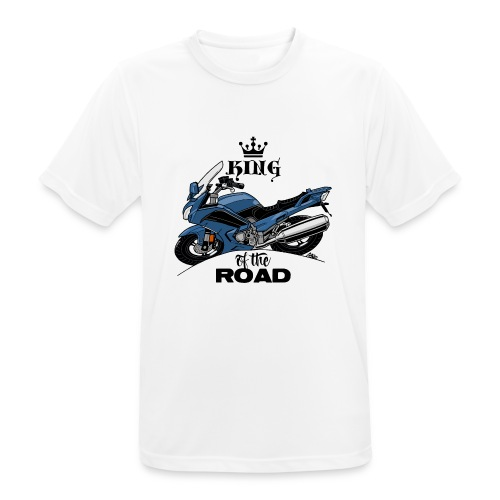 0885 FJR KING of the ROAD (blauw) - Mannen T-shirt ademend actief