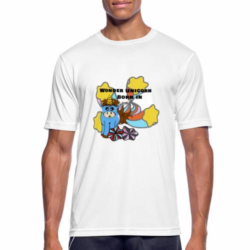 Une merveilleuse licorne est née (pour garcon) - T-shirt respirant Homme