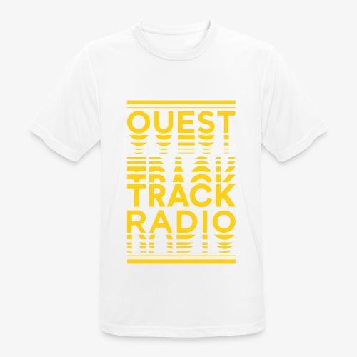 Logo Vertical Grand Jaune - T-shirt respirant Homme