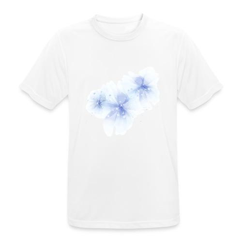 blue flowers - Koszulka męska oddychająca
