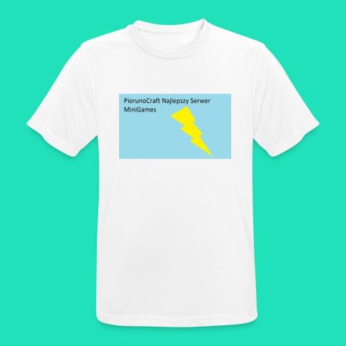 Koszulka Dla Dzieci PiorunoCraft - Koszulka męska oddychająca