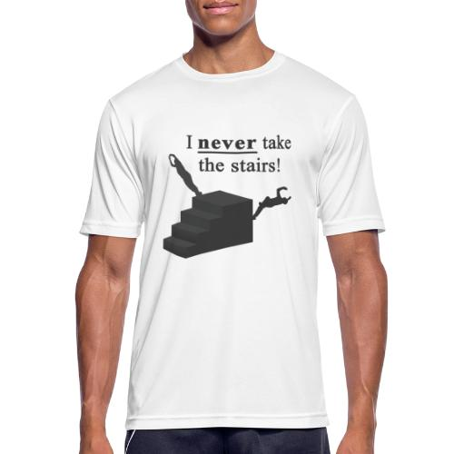 I Never Take The Stairs Grey Parkour - Herre T-shirt svedtransporterende