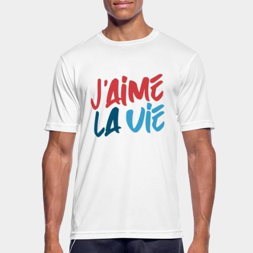 Ich liebe das Leben - T-shirt respirant Homme