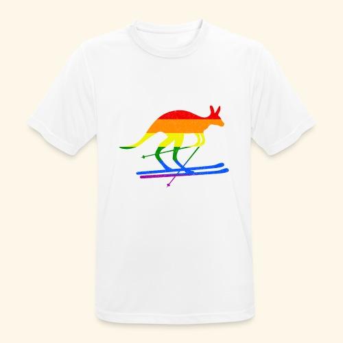 Skifahrer Känguru Ski Wintersport Regenbogenfahne - Männer T-Shirt atmungsaktiv