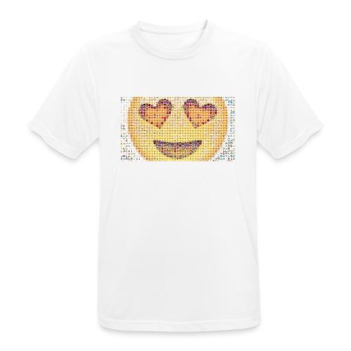 Emoij Hoesje - mannen T-shirt ademend