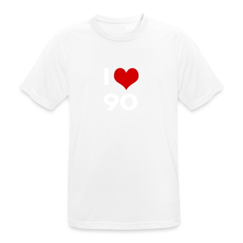 I love 90 - Maglietta da uomo traspirante