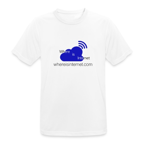 Where is the Internet - Men's Breathable T-Shirt