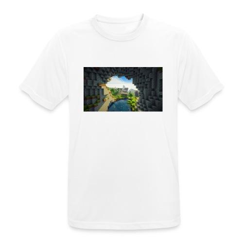 wallpapers minecraft hintergrundbilder 02 - Männer T-Shirt atmungsaktiv