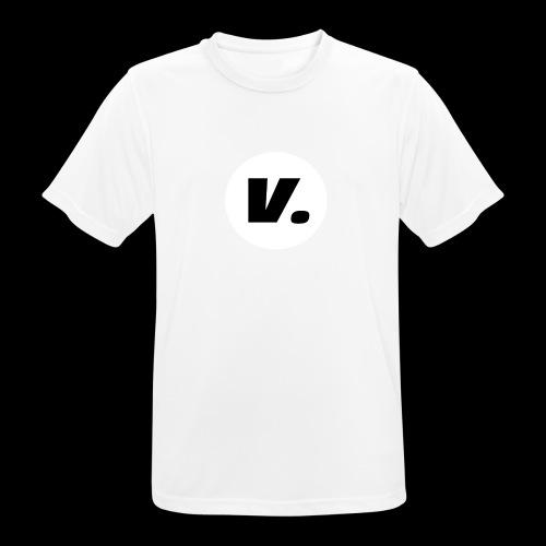 Ventura Black V Logo - Mannen T-shirt ademend actief