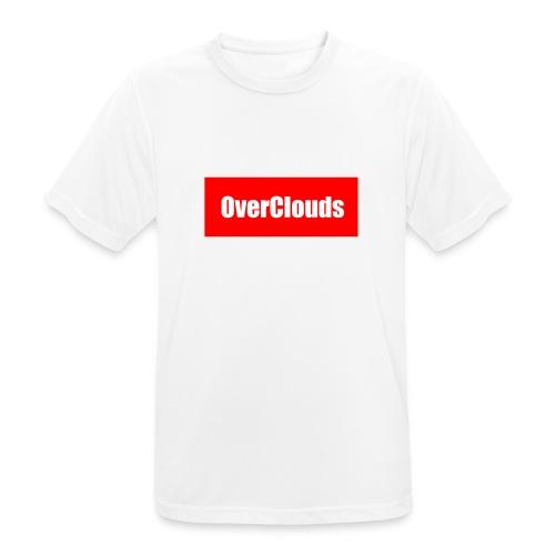 OverClouds Box Logo - Maglietta da uomo traspirante
