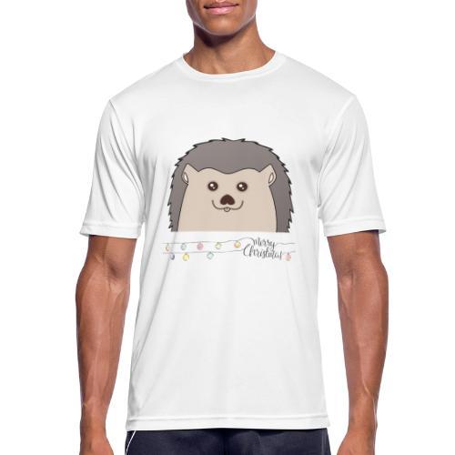 Hed wünscht Merry Christmas - Männer T-Shirt atmungsaktiv