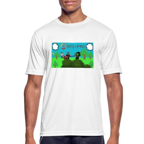 Maglietta Immagine Mario Anti-Pro - Maglietta da uomo traspirante