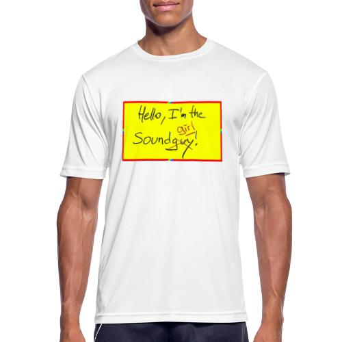 hello, I am the sound girl - yellow sign - Men's Breathable T-Shirt