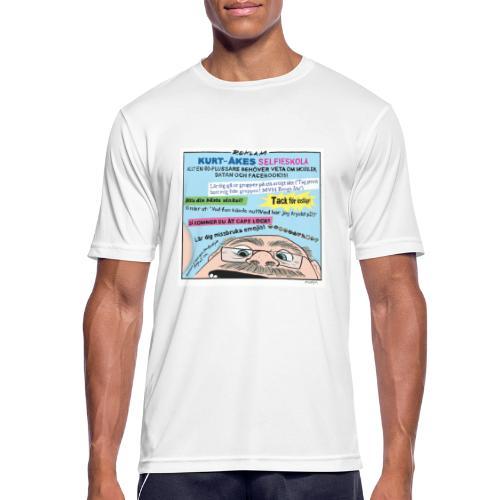 Kurt-Åkes selfieskola - Andningsaktiv T-shirt herr