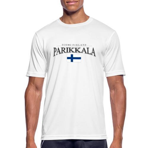 Suomipaita - Parikkala Suomi Finland - miesten tekninen t-paita