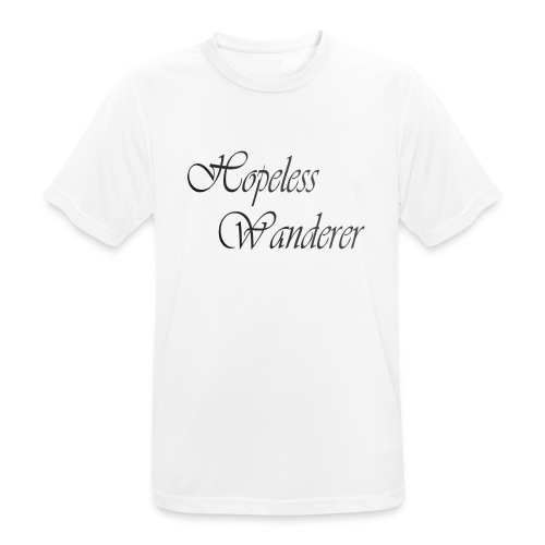 Hopeless Wanderer - Wander text - Men's Breathable T-Shirt