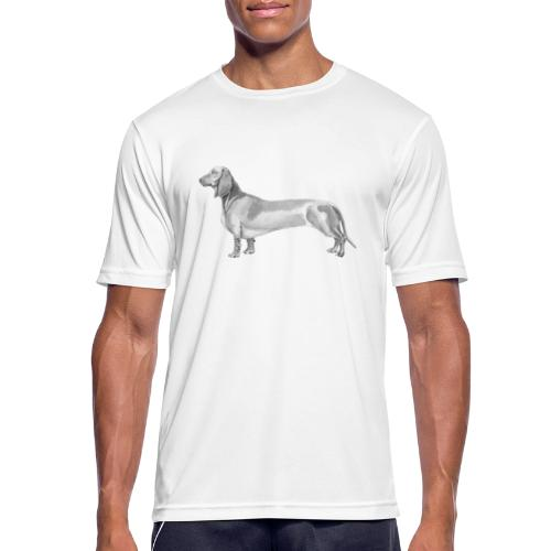 Dachshund smooth haired - Herre T-shirt svedtransporterende