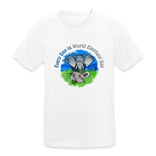Every Day Is World Elephant Day - Männer T-Shirt atmungsaktiv