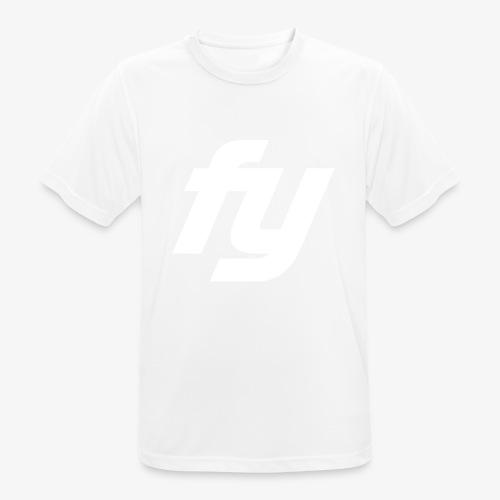 Logo Trendy Weiss - Männer T-Shirt atmungsaktiv