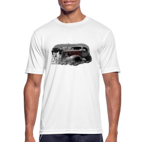 Live a life Oldtimer - Männer T-Shirt atmungsaktiv