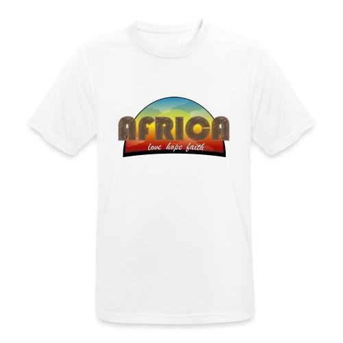 Africa_love_hope_and_faith2 - Maglietta da uomo traspirante