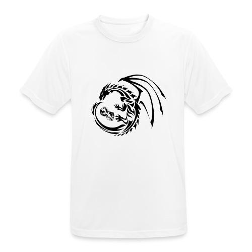 HytteCon black png - Pustende T-skjorte for menn