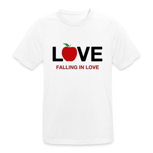 Falling in Love - Black - Men's Breathable T-Shirt