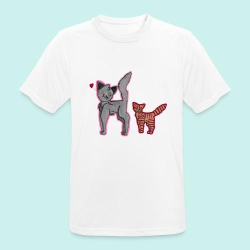 cat and kitten - miesten tekninen t-paita