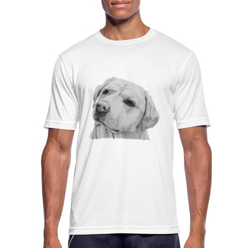 labrador retriever yellow - head - Herre T-shirt svedtransporterende