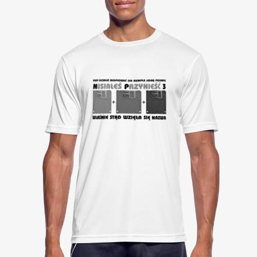 piosenka na dyskietkach - Koszulka męska oddychająca
