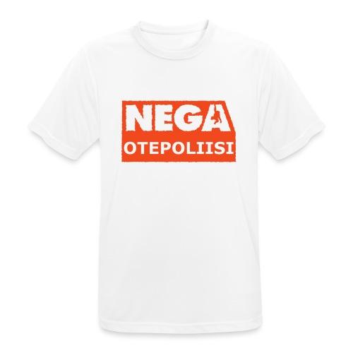 OtePoliisi pinssi iso - miesten tekninen t-paita