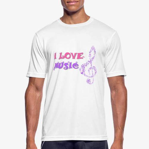 Love Music - Camiseta hombre transpirable