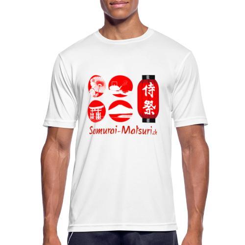 Samurai Matsuri Festival - Männer T-Shirt atmungsaktiv