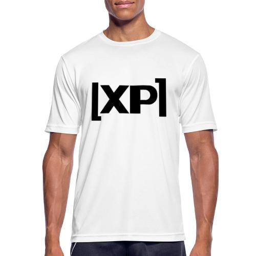 Klammelogo XP (sort) - Herre T-shirt svedtransporterende