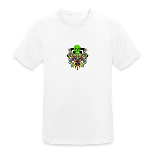 Colorfull skull - miesten tekninen t-paita
