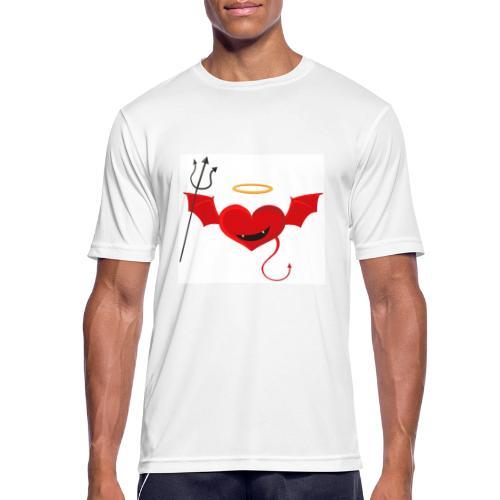 Red Heart Devil - Koszulka męska oddychająca