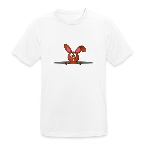 Cute bunny in the pocket - Maglietta da uomo traspirante