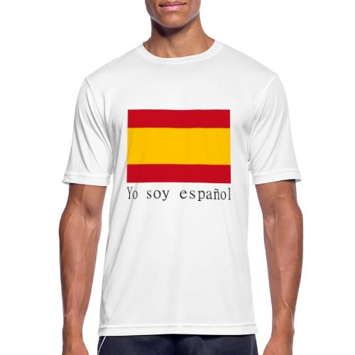 yo soy español - Camiseta hombre transpirable