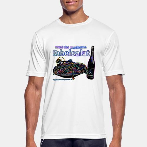 Freund des gepflegten Kabelsalat - Neon - Männer T-Shirt atmungsaktiv
