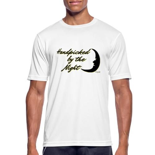 Handpicked design By The Night - Logo Black - Men's Breathable T-Shirt