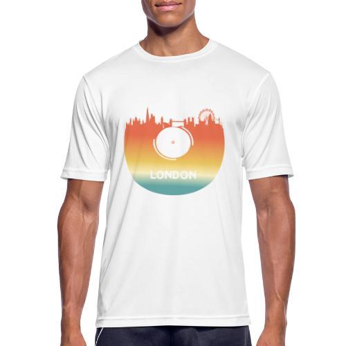 London Skyline Vinyl Schallplatte London Souvenir - Männer T-Shirt atmungsaktiv