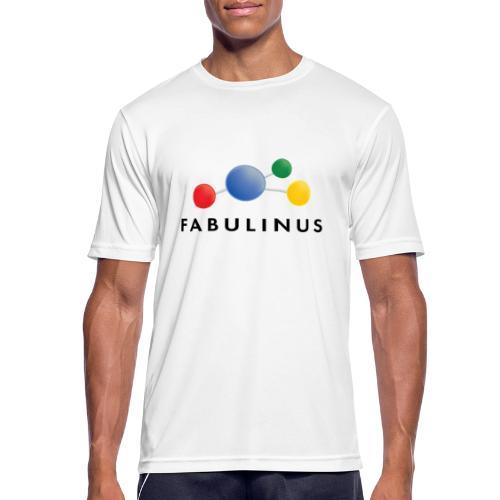 Fabulinus Zwart - Mannen T-shirt ademend